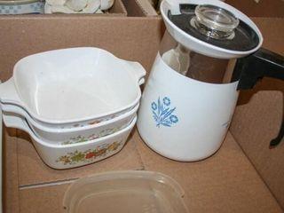 Blue Cornflower Coffee Pot  Corning Dishes