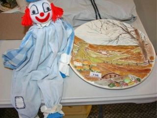 Clown and Handmade Plate