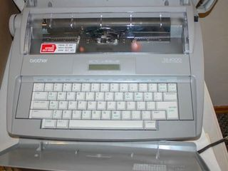 Brother Typewriter with cover
