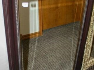 large Wall Mirror Brown Frame