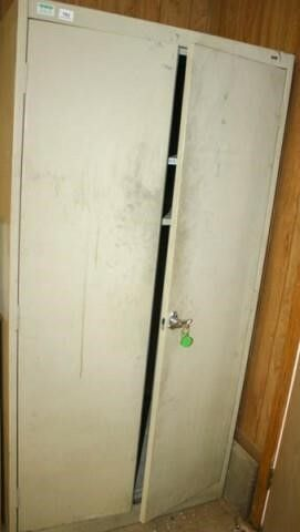 large Tan locking Cabinet with Keys