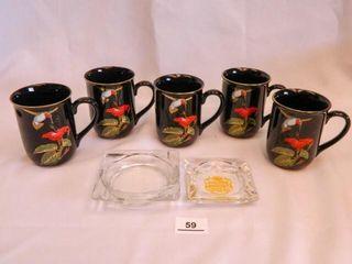Cups w Hummingbird Decor   5
