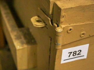 Wooden storage box  Hinged door