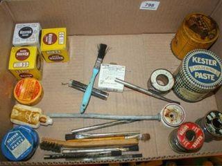 Soldering Paste  Solder and Flux Brushes
