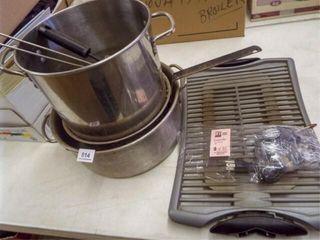 Grill  Colander  Pots  Utensils