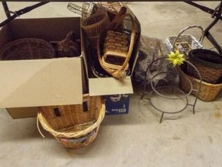 Baskets  Planters   all under table