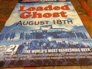 2007 Coors NFl loaded Ghost Poster