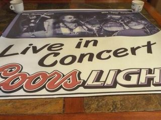 Coors Concert Poster  36  x 37