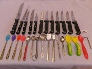 Kitchen Knife Assortment 12