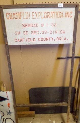 Champlin  Semrad  Garfield County Sign