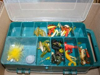 Fishing tackle  2 Small divided trays