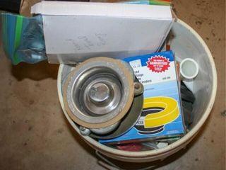 Bucket of Plumbing Supplies  Garbage Disposal