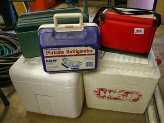 Coolers  Assorted  Plastic   Styrofoam