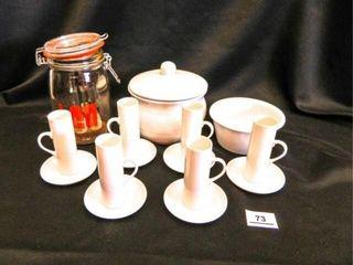 Porcelain Cup Saucer Set 12 Pieces