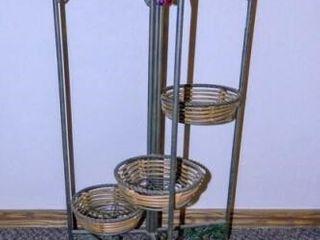Metal Plant Holder w Grape Decor