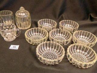 Jeanette Glass Sugar Bowls 1 lid