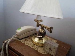 AlARM ClOCK  DESK TElEPHONE  NIGHT STAND lAMP