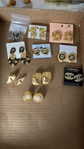 10 PAIRS OF ClIP ON EARRINGS