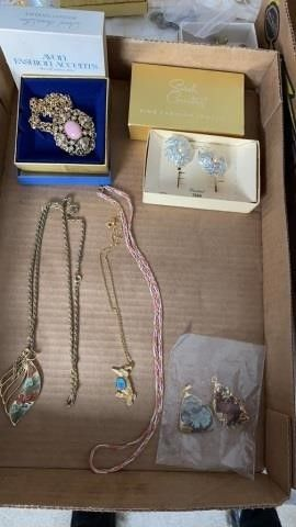 AVON NECKlACE  SARAH COVENTRY EARRINGS AND OTHER