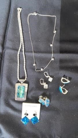 AVON NECKlACE AND EARRINGS AND NECKlACE AND 3