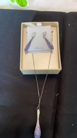 lUMIMESSE STERlING SIlVER NECKlACE AND EARRINGS