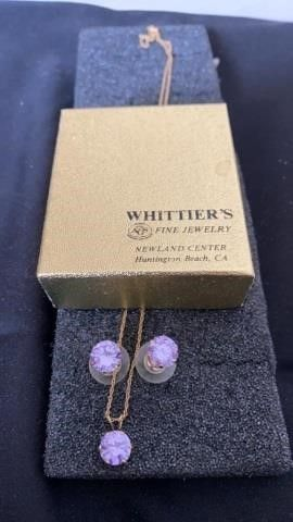 SET OF EARRINGS AND NECKlACE FROM WHITTIERS ON