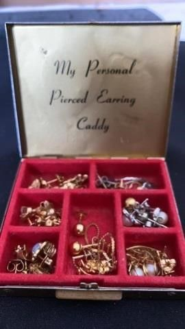 PIERCED EARRINGS CADDY FUll OF TINY POSTS