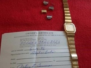 SEIKO QUARTZ WATCH AND OWNER S CERTIFICATE