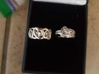SIZE 6 COSTUME SIlVER BAND RINGS
