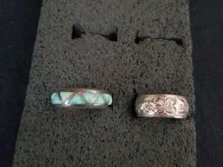 STERlING SIlVER  SIZE 6 BANDS
