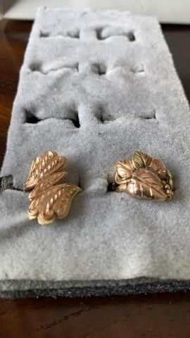 GOlD lEAF RINGS SIZE 6
