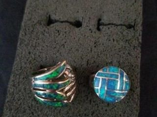 STERlING SIlVER BANDS WITH TURQUOISE ACCENTS