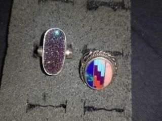2 SIZE 6 STERlING SIlVER RINGS