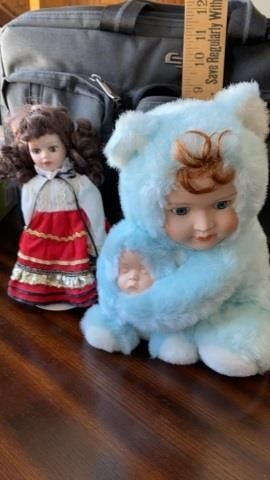 DOll AND SNUGGlY DOll WITH BABY