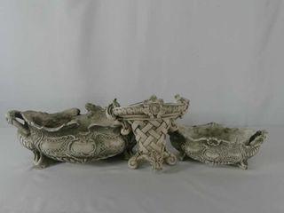 3 Ceramic Planters