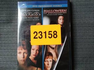 DVD PROGRAMME DOUBlE  Jamie lee Curtis H2O Halloween 20 and plus Taurus Halloween la Resurrection