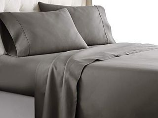 Hotel luxury Bed Sheets Set 1800 Series Platinum Collection Softest Bedding  Deep Pocket Wrinkle   Fade Resistant  Twin  Gray