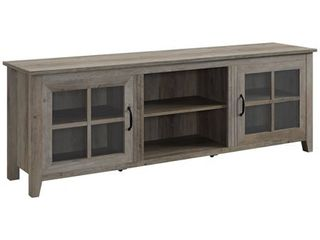 70  Farmhouse Wood TV Stand with Glass Doors