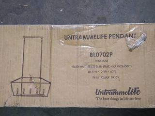 UNTRAMMElIFE Pendant  Bl0702P  5x60 Watts  bulb not uncluded