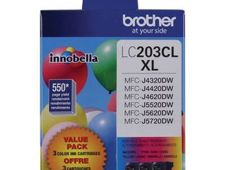Brother lC203ClXl 3pk Ink Cartridges   Cyan  Magenta Yellow  lC2033PKS