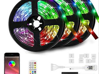 50ft lED Strip lights Kit  lED Tape Strips  Sync to Music   Smart RGB lED Strip light with Remote  APP Bluetooth Control  light Strips for Room  lED lights for Bedroom Home Party Decoration 50ft