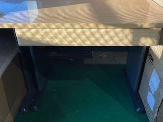 light Wood Grain Medium Desk