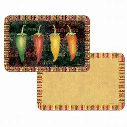 Counterart Reversible Plastic Wipe Clean Placemats