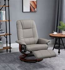 HomCom Faux leather Adjustable Swivel Chair