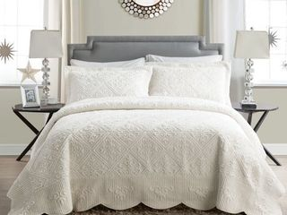 Westland Quilted Plush Queen Bedspread