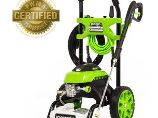 Greenworks GPW2006 Portable 2000 PSI 1 2 GPM 14 Amp Motor Cold Water Electric Pressure Washer
