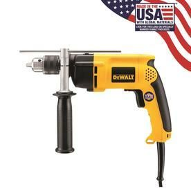 Dewalt Dw511 1 2in  13mm  Vsr Single Speed Hammerdrill 0 50  Chuck   APPEARS TO BE MISSING HANDlE  amp  DEPTH GUIDE
