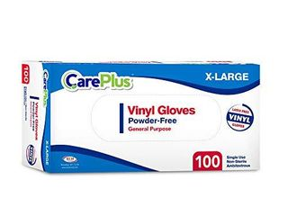 Disposable Vinyl Gloves Extra large Non latex Powder Free 100 Count Clear