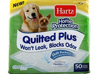 Hartz Home Protection Quilted Plus Clean Powder Scented Dog Pads  50ct