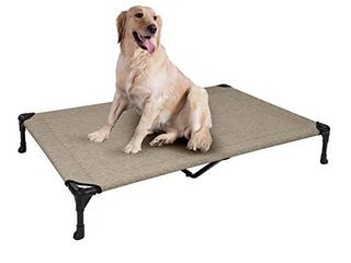 Veehoo Cooling Elevated Dog Bed  Portable Raised Pet Cot with Washable   Breathable Mesh  No Slip Rubber Feet for Indoor   Outdoor Use  X large  Silver Gray